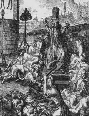 (8)Казни Ивана Грозного. Гравюра из немецкой книги Разговоры в царстве мертвых 1725 г копия