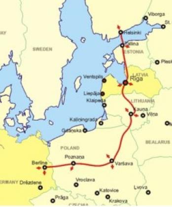 Карта-схема железной дороги