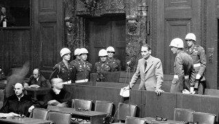 © РИА Новости. В. Кинеловский Нюрнбергский трибунал: суровый и справедливый приговор