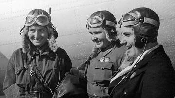© РИА Новости. Ландер Ольга Юбилей первого женского беспосадочного полета Москва - Дальний Восток